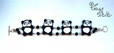 crafty jewelry: shape sausage panda, jewelry making